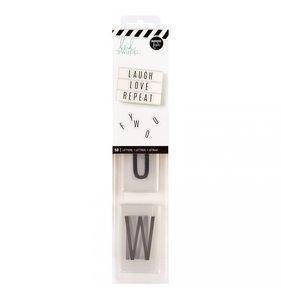 Alfabeto Lightbox Black on White