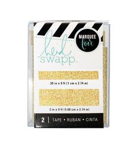 Set Washi Tape Lightbox Gold Glitter