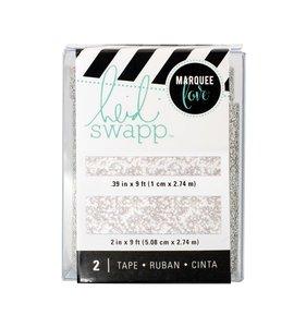 Set Washi Tape Lightbox Silver Glitter
