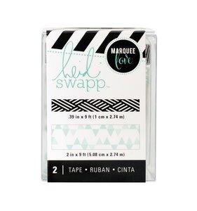Set Washi Tape Lightbox Pattern Teal