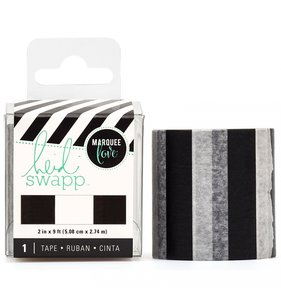 Washi Tape Lightbox Black and White Stripe