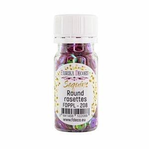 Bote de lentejuelas FD Round Rosettes Cherry with Iridiscent Nacre
