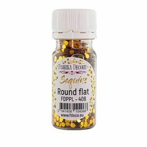 Bote de lentejuelas FD Round Flat Golden