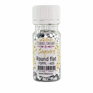 Bote de lentejuelas FD Round Flat Silver