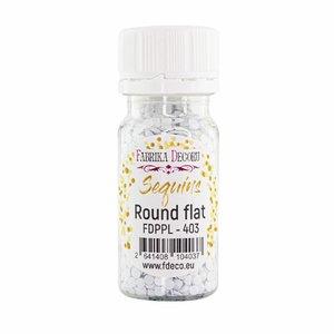 Bote de lentejuelas FD Round Flat White