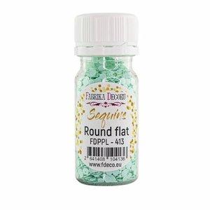 Bote de lentejuelas FD Round Flat Mint