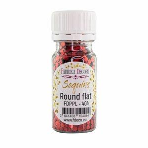 Bote de lentejuelas FD Round Flat Red Metallic