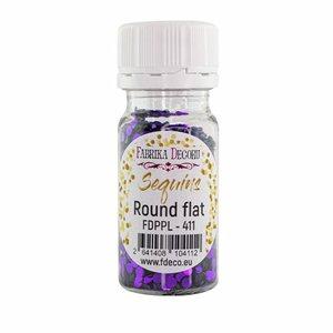 Bote de lentejuelas FD Round Flat Violet Metallic