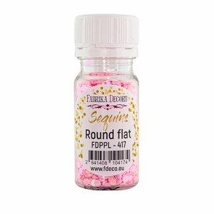 Bote de lentejuelas FD Round Flat Pink with Iridiscent Nacre