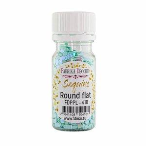 Bote de lentejuelas FD Round Flat Mint with Iridiscent Nacre