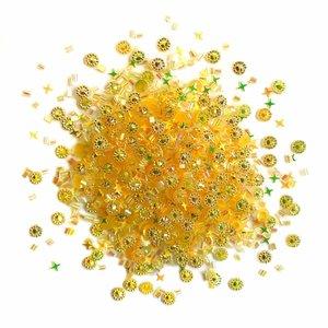 Cajita con gemas y confetti Doo Dazz Gold Rush