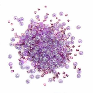 Cajita con gemas y confetti Doo Dazz Purple Rain