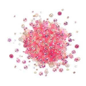 Cajita con gemas y confetti Doo Dazz Pink Frosting