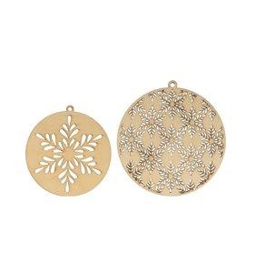 Medallones de madera Isatis Copos de nieve