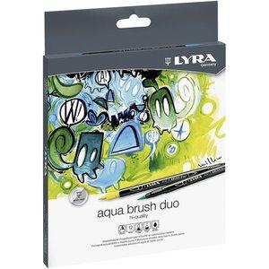 Set 12 rotuladores Lyra Aqua Brush Duo