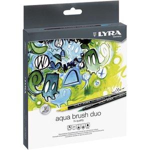 Set 24 rotuladores Lyra Aqua Brush Duo
