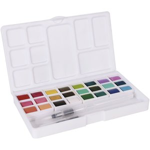 Paleta acuarelas Artis Decor 24 colores Pastel