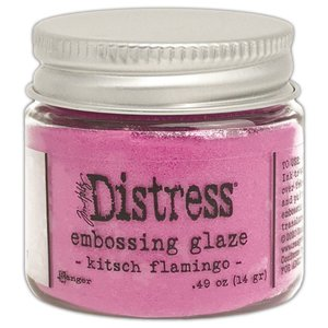 Tim Holtz Distress Embossing Glaze Kitsch Flamingo