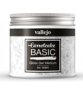 Gel Medium Gloss 200 ml CarrotCake by Vallejo