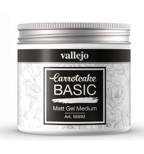Gel Medium Mate 200 ml CarrotCake by Vallejo
