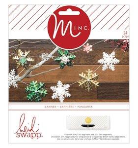 Kit Banner copos de nieve MINC Christmas