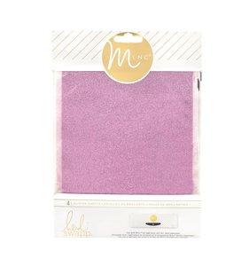 Hojas de purpurina Pink para MINC