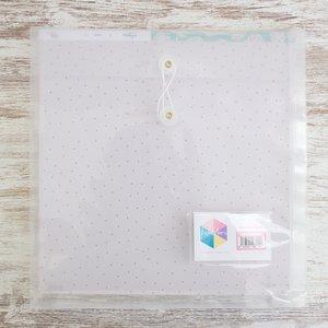 "Sobre de plástico expandible transparente para papeles 12""x12"""