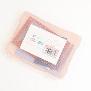 """Caja de plástico Kimidori Colors 5""""x7"""" Rosa"""