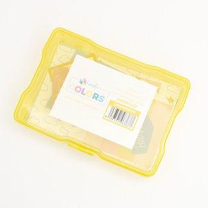 """Caja de plástico Kimidori Colors 4""""x6"""" Amarilla"""