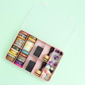 Caja con compartimentos Kimidori Colors Rosa