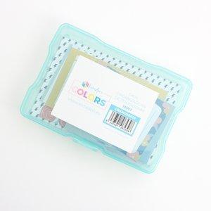 """Caja de plástico Kimidori Colors 4""""x6"""" Mint"""