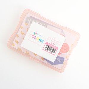 """Caja de plástico Kimidori Colors 4""""x6"""" Rosa"""