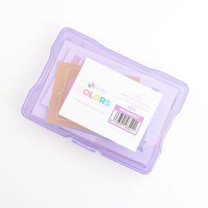 """Caja de plástico Kimidori Colors 4""""x6"""" Lila"""