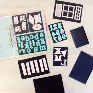 Set de 10 tarjetas magnéticas para organizar troqueles surtido