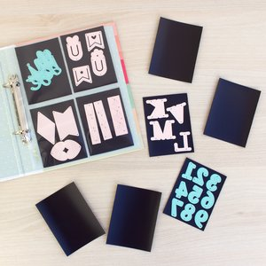 "Set de 10 tarjetas magnéticas para organizar troqueles tamaño 3""x4"""