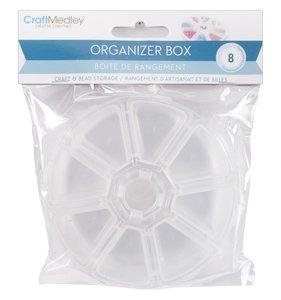 Caja redonda con 8 compartimentos