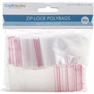 Bolsas para almacenar Ziplock 180 pcs 3,8 x 5,1 cm