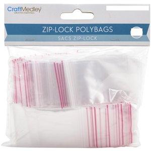 Bolsas para almacenar Ziplock 100 pcs 5,1 x 7,6 cm