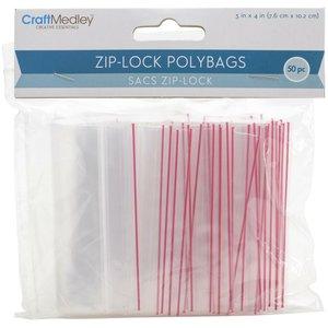 Bolsas para almacenar Ziplock 50 pcs 7,6 x 10,2 cm