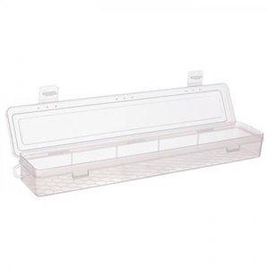 Caja almacenaje larga DP Craft transparente