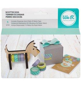 Scottie Dog Dispensador y 4 rollos de Washi