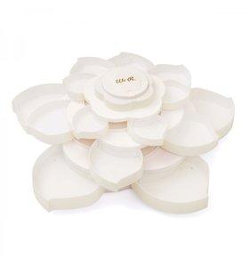 Caja para almacenar adornos Bloom Storage White