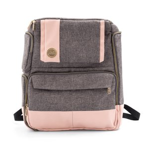 Mochila Crafter's Backpack WRMK rosa y gris