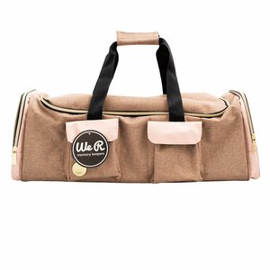 We R Machine Tote Taupe and Pink