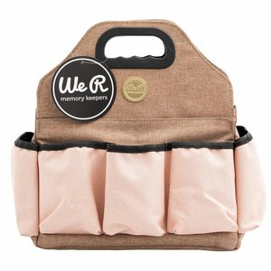We R Tote Bag Taupe and Pink