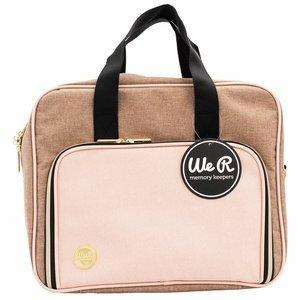 We R Shoulder Bag Taupe and Pink