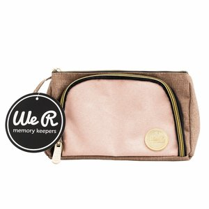 We R Pencil Pouch Taupe and Pink