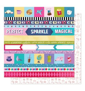 """Papel 12""""x12"""" Sparkle City Perfect Day"""