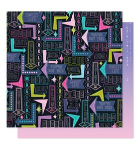 """Papel 12""""x12"""" Sparkle City Shine All Day"""