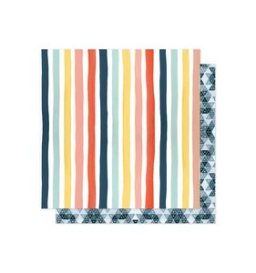 "Papel Saturday Afternoon 12""x12"" Sunshie Stripes"